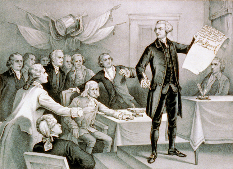 John Adams Signing The Declaration Of Independence
